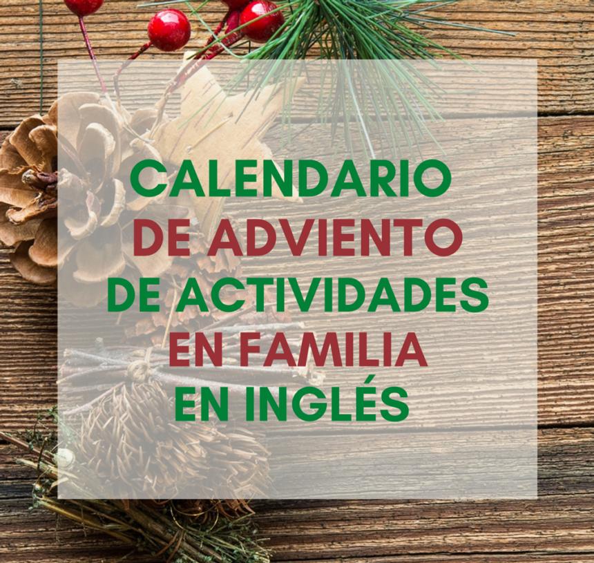 Calendario de Adviento de actividades en familia en inglés