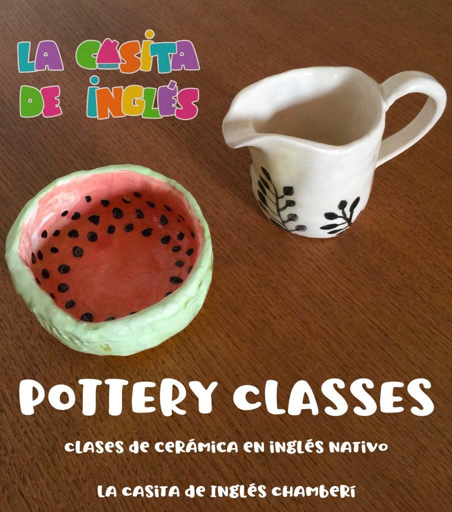 Clases de cerámica en inglés para niños